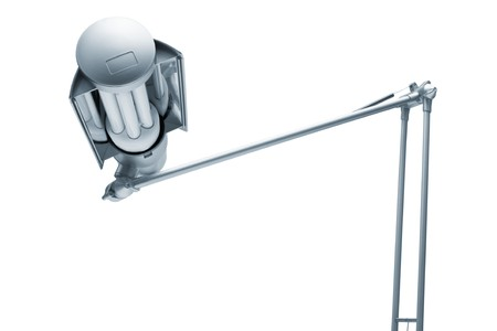 power modern lamp on a white background photo