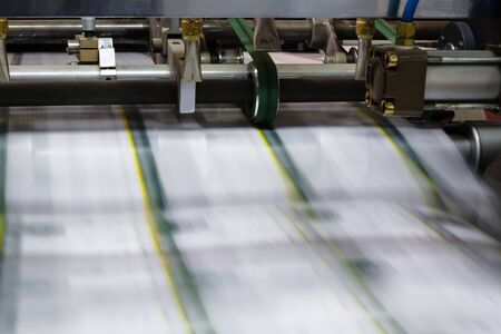 Polygraphic process in a modern printing house photo