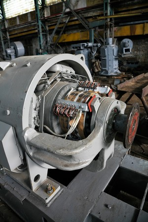 electric motor: The electric motor at a modern repair factory