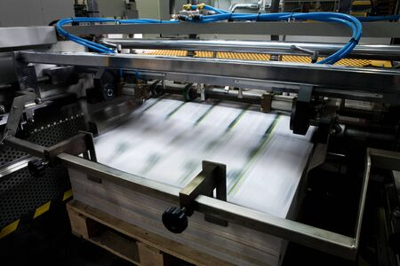 printing out: Polygraphic process in a modern printing house