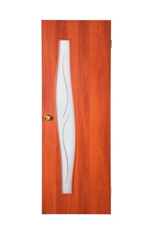 beautiful wooden door on a white background photo