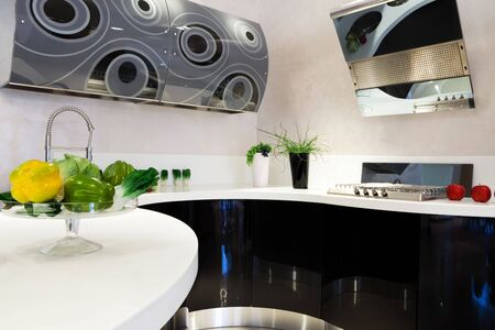 fashionable and beautiful kitchen in a modern apartment Stock Photo - 4646373