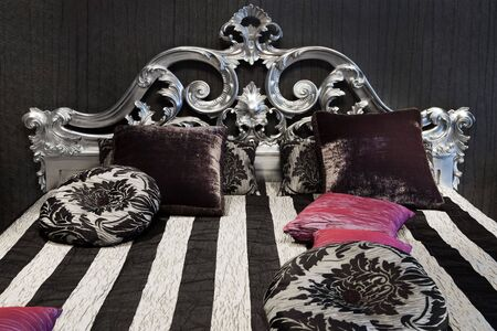 bolster: beautiful and fashionable bed in a modern bedroom
