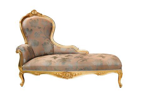 divan: sof� hermoso y rico en el fondo blanco