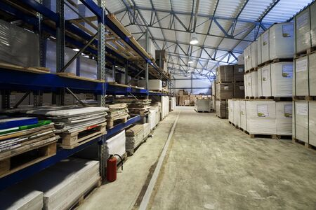 storage of goods in a modern warehouse photo