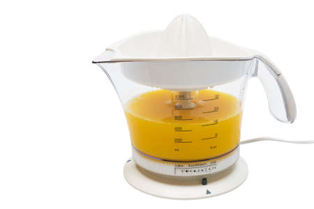 extractor: Modern juice extractor on a white background