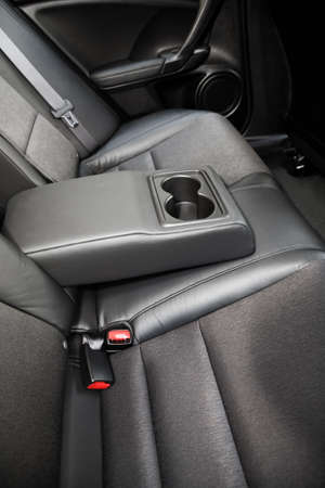 Beautiful leather interior of the modern car photo