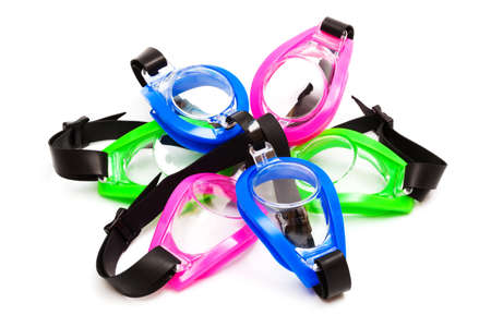 goggles for swimming on a white background photo