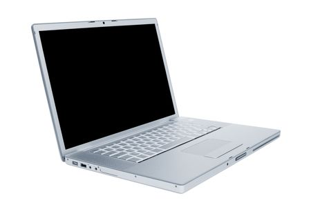 Modern and stylish laptop on a white background Stock Photo - 4826015