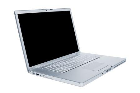 Modern and stylish laptop on a white background Stock Photo - 4826015