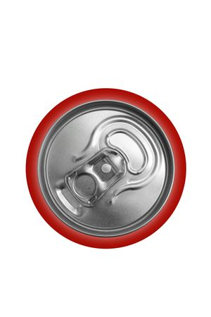 Aluminum closed can on a white background photo
