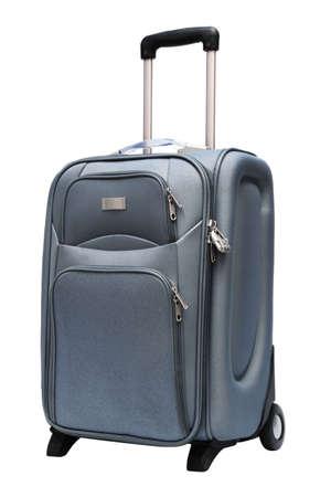 modern large suitcase on a white background Stock Photo