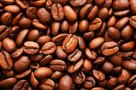 roasted coffee beans close-up as a background Stock Photo - 5022546
