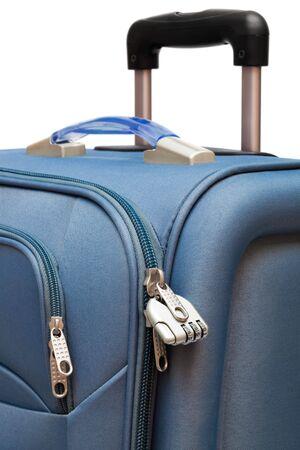 modern large suitcase on a white background Stock Photo - 5065759