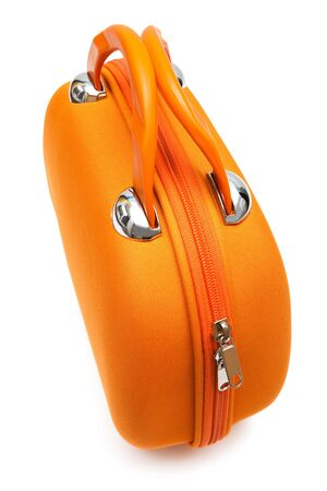 orange large handbag on a white background Stock Photo - 5236775