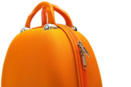 orange large handbag on a white background Stock Photo - 5251969