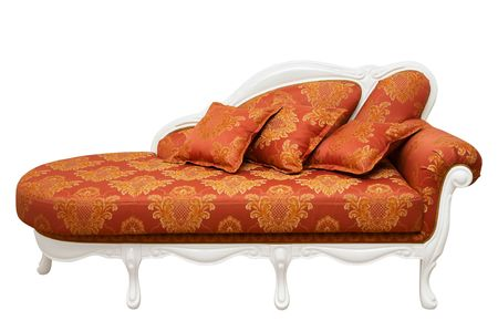Beautiful red sofa on a white background Stock Photo - 5269759