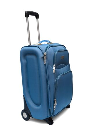 modern large suitcase on a white background Stock Photo - 5284690