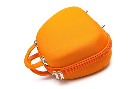 orange large handbag on a white background photo