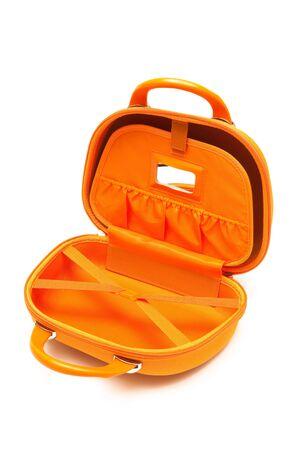 holdall: orange large bag on a white background Stock Photo
