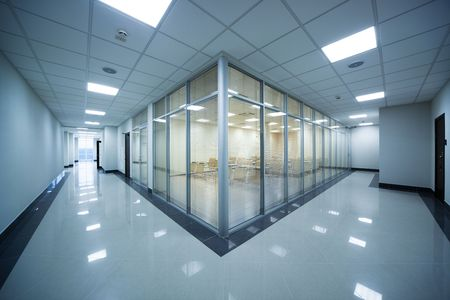 corridors: beautiful training room in a modern office