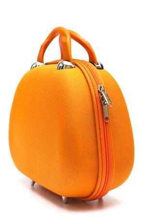 orange elegance bag on a white background photo