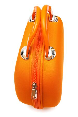 orange large bag on a white background photo