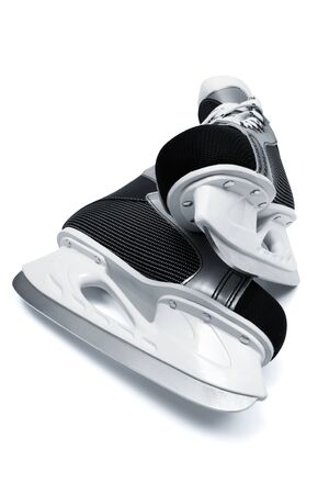 new and modern black skates close up photo