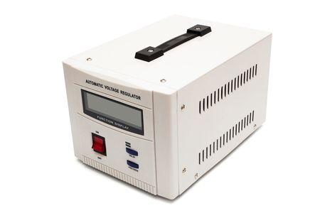 stabilizer: modern voltage stabilizer on a white background