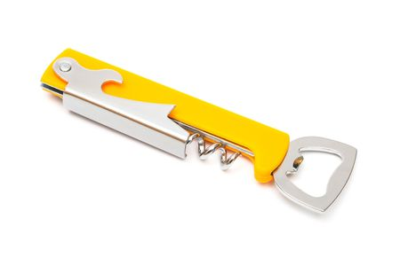 Modern metal opener on a white background photo