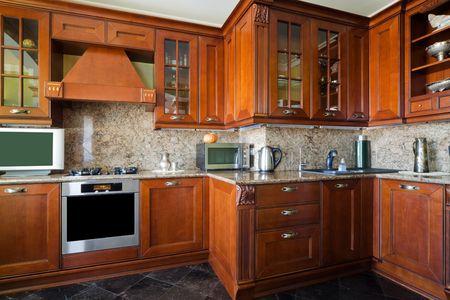 gas cooker: Cocina de gas en la cocina moderna y hermosa
