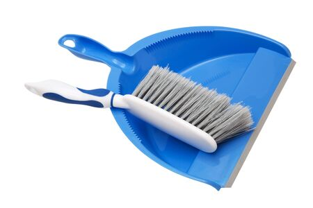 dustpan and brush on a white background Stock Photo - 5889015