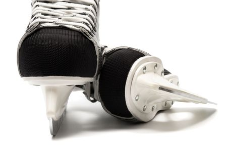 New and modern skates on a white background photo