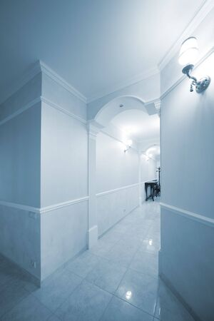 long and beautiful corridor in a modern apartment Stock Photo - 5889064