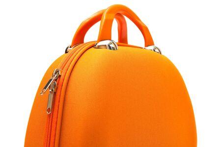 orange large handbag on a white background photo