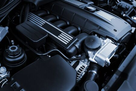 diesel engine: The powerful engine of the modern car Stock Photo