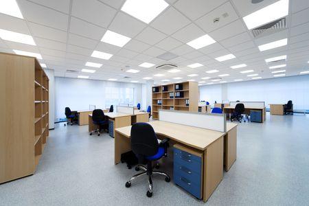 mobilier bureau: bureaux et les �tag�res au bureau modern Banque d'images