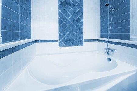 Beautiful, white bath in a modern bathroom Stock Photo - 6125481