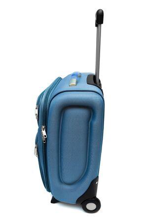 lugage: modern large bag on a white background