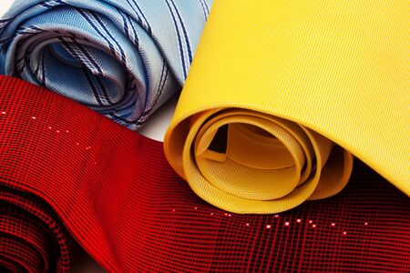 fashionable and beautiful ties convoluted close up photo