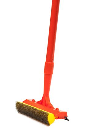brush for cleaning windows on a white background photo