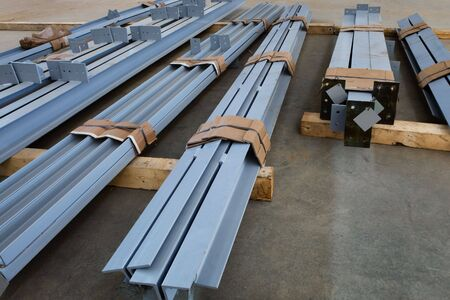 new welded metal beams on modern plant Stock Photo - 6536594