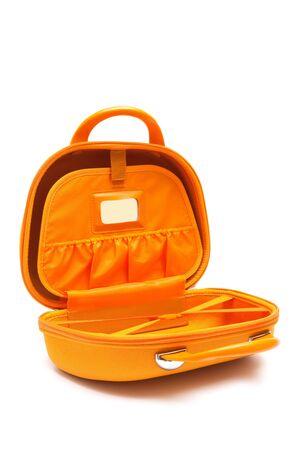 orange large bag on a white background Stock Photo - 6910255