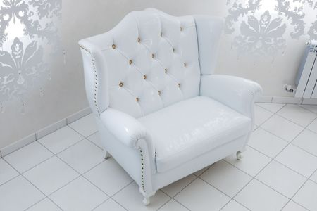 beautiful white armchair in a modern apartment Stock Photo - 7162577