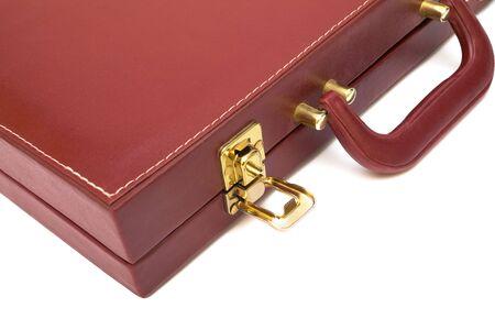 attache: red attache case on a white background