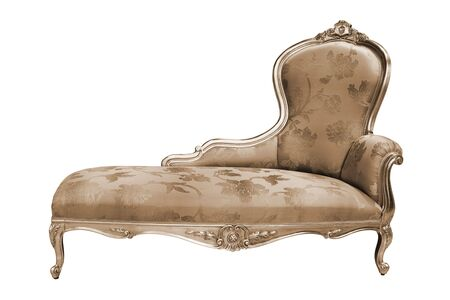 divan sofa: beautiful and rich couch on white background