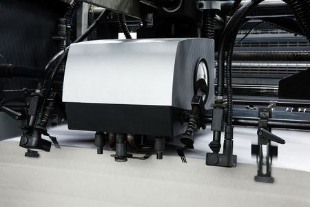 The equipment in a modern printing house photo
