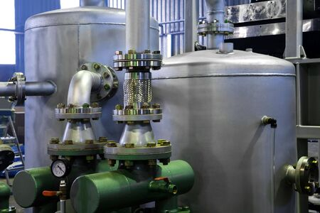 tanks and pumps at the modern plant photo