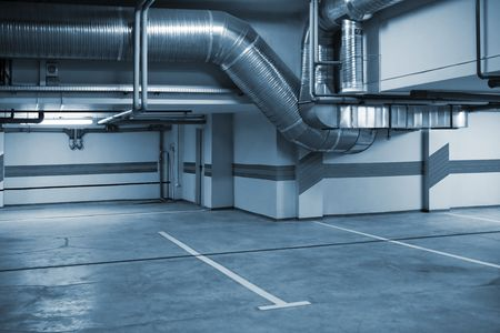 Parking in a cellar of a modern building photo