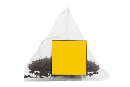 Tea in bags on a white background photo